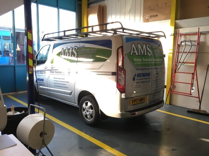 Agri Management Solutions Ltd transit van livery