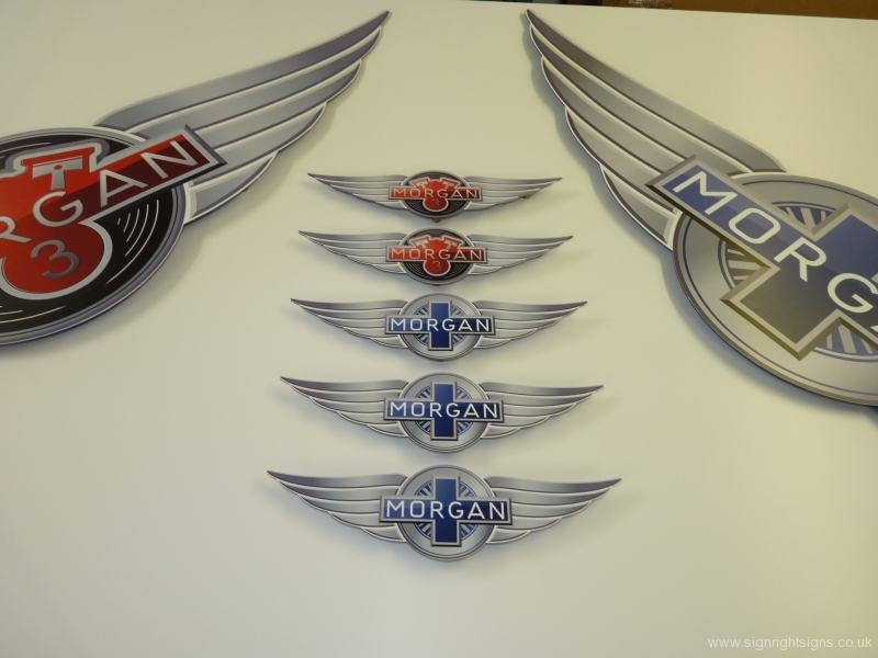 MORGAN MOTOR COMPANY WINGS LOGO SIGNS