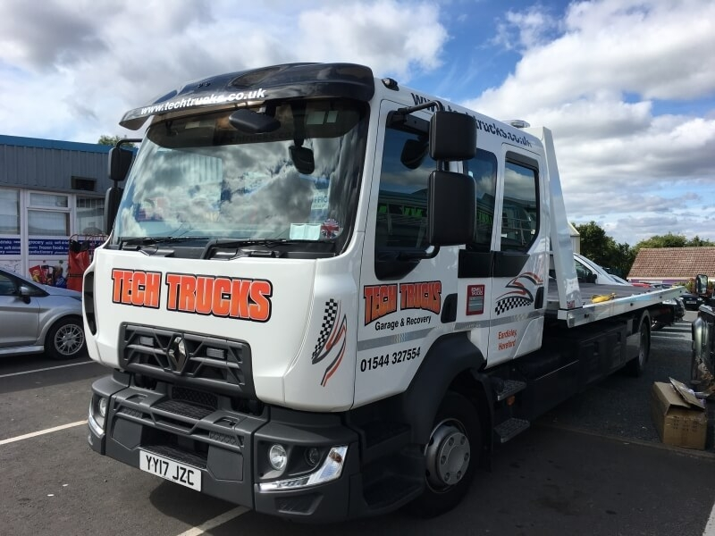 Tech Trucks renault flatbed lorry livery