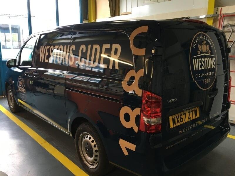 Westons Cider 2017 mercedes vito van livery
