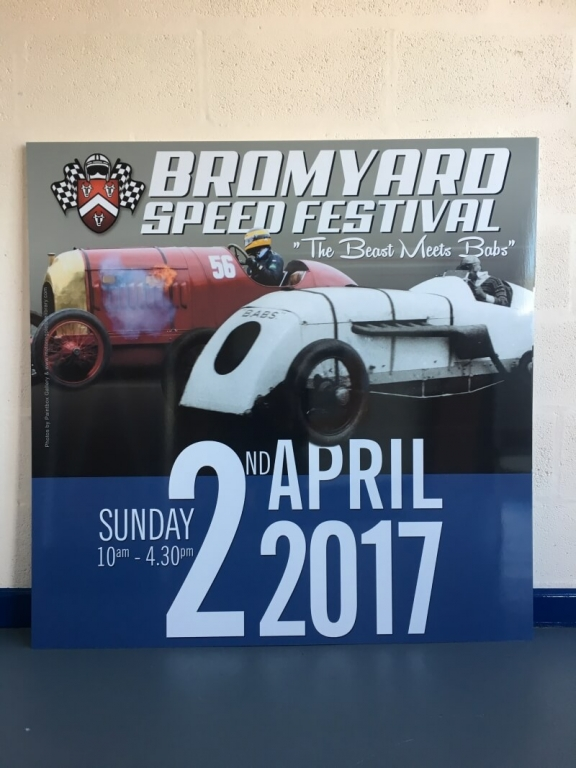 Bromyard speed festival 2017 foam board sign