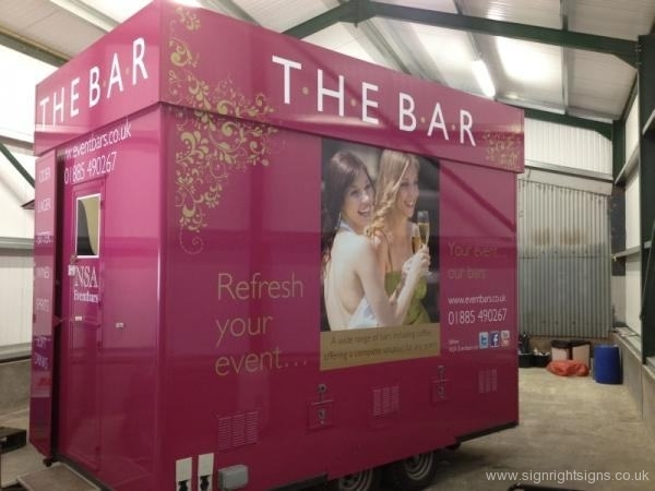 NSA event bars pink bar trailer