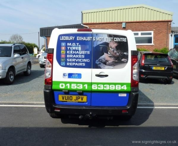 ledbury-exhaust-mot-centre-van-graphics