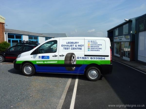 ledbury-exhaust-mot-centre-van-print