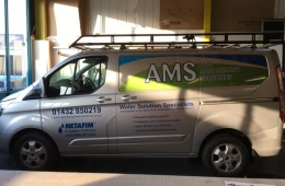 Agri Management Solutions Ltd transit van signs
