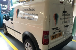 Gordon Davies Multi-Installation Electrical Engineer transit connect van livery