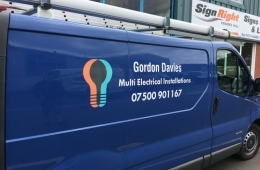 Gordon Davies Multi-Installation Electrical Engineer van livery