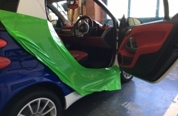 Smart car vehicle part wrap