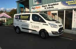 Bessie 2016 Transit van panel wrap livery