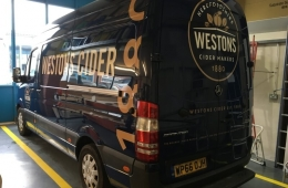 Westons Cider 2017 mercedes sprinter van livery