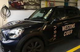 Westons Cider mini car 2017 livery