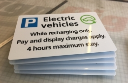 electric vehicles sign hereford council