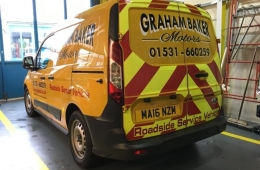 Graham baker motors van graphics with chevrons