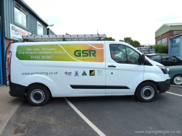 GSR Hereford transit van panel wrap signage