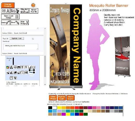 Mosquito Roller Banner Online Sign Designer