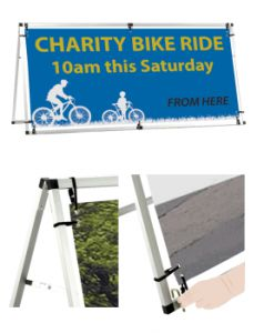 Outdoor a-frame banner 860mm x 2050mm