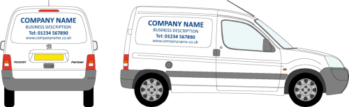Small Van Basic Vehicle Livery Design