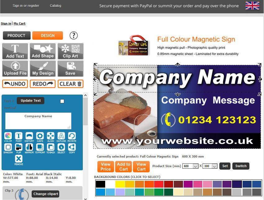 New online sign designer